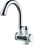 Albatros Robinet instant apa calda Albatros Premium, Element de incalzire al apei din inox, Afisaj LCD, 3000 W, Argintiu/Alb (Premium)