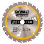 DeWALT Диск циркулярен HM за дърво ф184 х 24 зъба, DeWALT DT1951 (DeWALT DT1951)