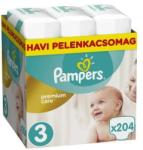 Pampers Premium Care 3 Midi 204db