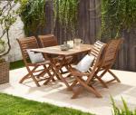 Tchibo Összecsukható kerti asztal, fa