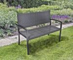 Hrs Sanremo műrattan kerti pad fekete