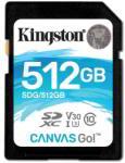 Kingston SDXC Canvas Go! 512GB C10/U3/V30 SDG/512GB