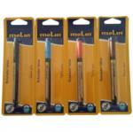 Molin Marker pentru tatuaje, varf subtire tip pensula, corp plastic, MOLIN - albastru (ML-RTE280-TT-3)