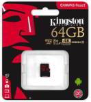 Kingston microSDXC Canvas React 64GB C10/U3/V30/A1 SDCR/64GBSP