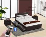 Tempo Kondela Fabala modern ágy laminált ráccsal, RGB LED világítással, bluetooth hangszóróval 160x200cm