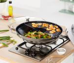 Tchibo Nemesacél wok, levehető párolóráccsal