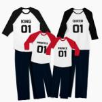 Tiparo Pijamale personalizate familie Number One
