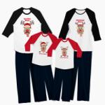Tiparo Pijamale personalizate familie Red Nose Family