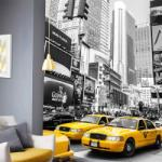 Tiparo Fototapet Yellow Cab New York