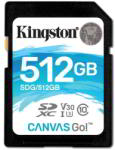 Kingston SDXC Canvas Go! 512GB C10/U3/V30 SDG/512GB