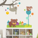 BeKid Stickere perete copii Oraselul vesel - 200 x 174 cm