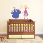 BeKid Stickere perete copii Cenusareasa si zana - 125 x 95 cm Decoratiune camera copii