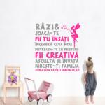 BeKid Stickere perete copii Citat pentru fetite - 112 x 120 cm Decoratiune camera copii