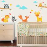 BeKid Stickere perete copii Prin padure - 157 x 80 cm Decoratiune camera copii