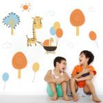 BeKid Stickere perete copii Familia girafelor - 120 x 65 cm Decoratiune camera copii