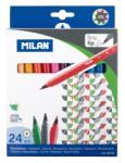 MILAN Filctoll készlet MILAN 610, 24 különböző szín, 2 mm-es hegy, hengeres test