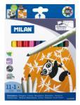 """MILAN Filctoll készlet MILAN 632, 11 db színes filctoll + 1 db """"varázsfilc"""", 5 mm-es hegy, hengeres test"""