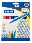 MILAN Filctoll készlet MILAN 6112, 12 különböző szín, 2 mm-es hegy, háromszög test