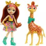 Mattel Enchantimals - Gillian Giraffe és Pawl (FKY72)