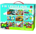King Mókás járművek 9 az 1-ben puzzle 2. rész (05520)
