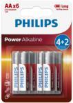 Philips Philips LR6P6BP/10 - 6 db alkáli elem AA POWER ALKALINE 1, 5V P2201
