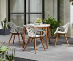 Tchibo Kerti szék, szürke, eukaliptusz fa lábakkal
