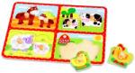 Tooky Toy Farmon élő állatok fa forma puzzle (TY060)