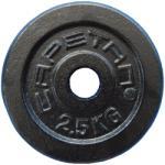 Capetan Capetan® 2, 5Kg 31mm átm, Acél súlytárcsa fekete selyemfényű festék bevonattal
