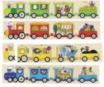 Goki vonatos puzzle és memória játék