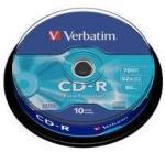 "Verbatim Blank Cd-R Verbatim Datalife 52x 700mb 10pk Spindle Extra Protection ""43437"" (43437)"