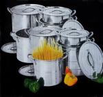 As Seen On TV Set oale inox India 8 piese Stock Pot