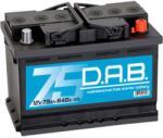 D.A.B 75Ah 640A Jobb+
