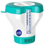 GRE Úszó tablettás vegyszeradagoló hőmérővel (extra nagy) (40070)
