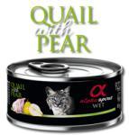 Alpha Spirit Alpha Spirit Complete wet cat food - Пъдпъдък с Круши консерва за котки с 92% месо и 4% плодове - 85 гр (gal 20225 Alpha Spirit Complete wet cat food Пъдпъдък Круши 85гр)