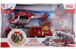 ALLTOYS Tűzoltó helikopterrel és vészhelyzeti járművel