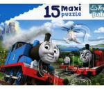 Trefl Baby Thomas és barátai Száguldó mozdonyok - 15 darabos maxi puzzle (14283)