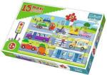 Trefl Baby Városi járművek 15 db-os maxi puzzle (14279)