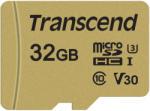 Transcend microSD 32GB C10/UHS-I/U3 TS32GUSD500S