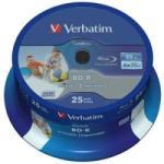 """Verbatim Blank Bd-R Verbatim Sl Datalife 6x 25gb 50pk Spindle Wide Printable No Id """"43812"""" (43812)"""