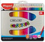 Maped COLOR`PEPS színes ceruza fém dobozban 24db