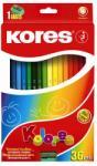 KORES HEXAGONAL színes ceruza 36 db