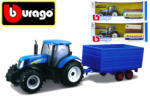 Bburago New Holland farm traktor trailer-rel - többféle
