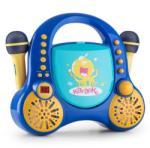 Auna Sistem de CD AUX 2x microfon autocolant (MG3-ROCKPOCKET-BL)