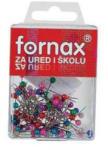 Fornax Gombostű FORNAX színes fejjel műanyag dobozban