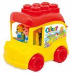 Clementoni Clemmy - Autobuz scolar cu cuburi (14783)