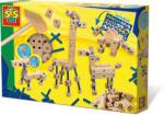 SES Creative Set de constructie din lemn Animale (HOE04267)