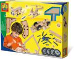 SES Creative Set de constructie din lemn - Vehicule (HOE04268)