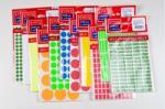 Tanex Etichete autoadezive color, D 8 mm, galben, set (TX-OFC-1027-YE)