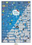 """ШантавоЕ Скреч постер """"100 неща за правене в България"""