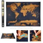 ШантавоЕ Персонална скреч карта на света. Изтрийте посетените места! - 88 х 52 см